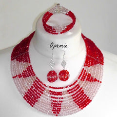 Red Crystal Nigerian Beads