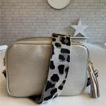 Load image into Gallery viewer, Silver Cheetah Bag Strap