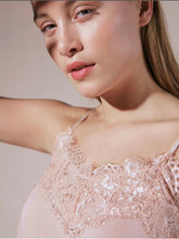 Load image into Gallery viewer, Lace Trimmed Camisole Top Soft Peach