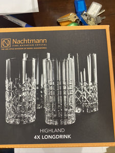 RG0002 Set of 4 highland Long drink Tumblers Nacht