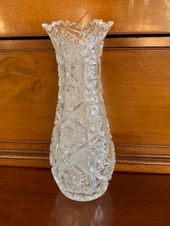 GP1245 Large Cut Crystal Pear Shaped Vase