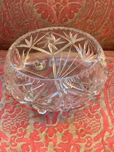 GP1383 Large Footed Cut Crystal Bowl