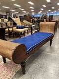 FS0038 Anglo Indian Mahogany Caned Chaise Lounge