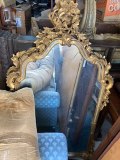 PM0013 A Pair Of Italian Mirrors in Elaborate Wooden Gilt Frames - Antiques and Possibilities