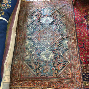DC0323 Persian Senneh Wool Carpet/Rug - Antiques and Possibilities