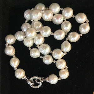 JN0581 Freshwater Pearl Strand with Sterling Clasp