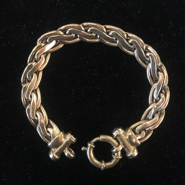 JA0277 10kt Gold Two Tone Bracelet