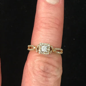 JR0008 10kt RG Diamond Ring