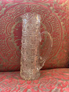 GP1243 Tall Pinwheel Cut Crystal  Water  Pitcher