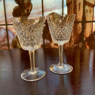 GP0126 A Pair of  Waterford Crystal Glasses in the Alana Pattern