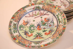 GP0343 Set of 8 Hand Painted Dinner Plates