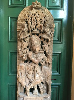 DC0384 Indian Wood Carving of Krishna