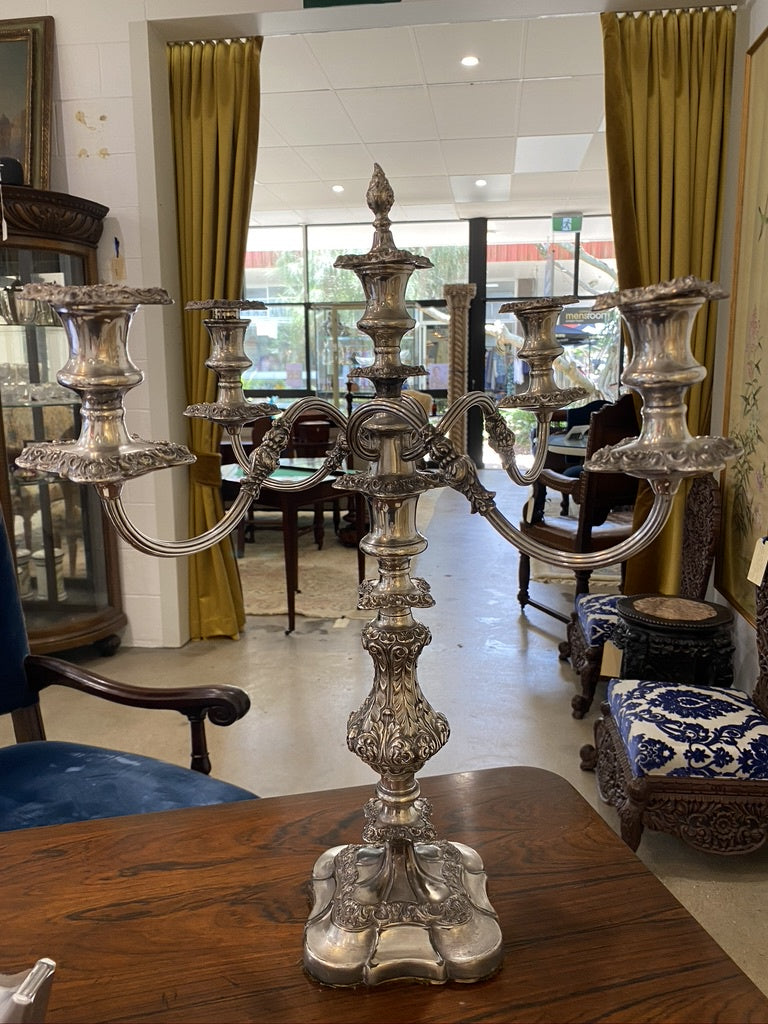 SM0013 Silver Plated Candelabra