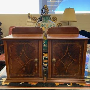 FO0009 A Pair of George III Mahogany Diminutive Wall Cabinets