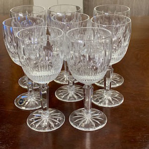 GP0389 Set of 8 Large Lenox Shenandoah Wine Glasses - Antiques and Possibilities