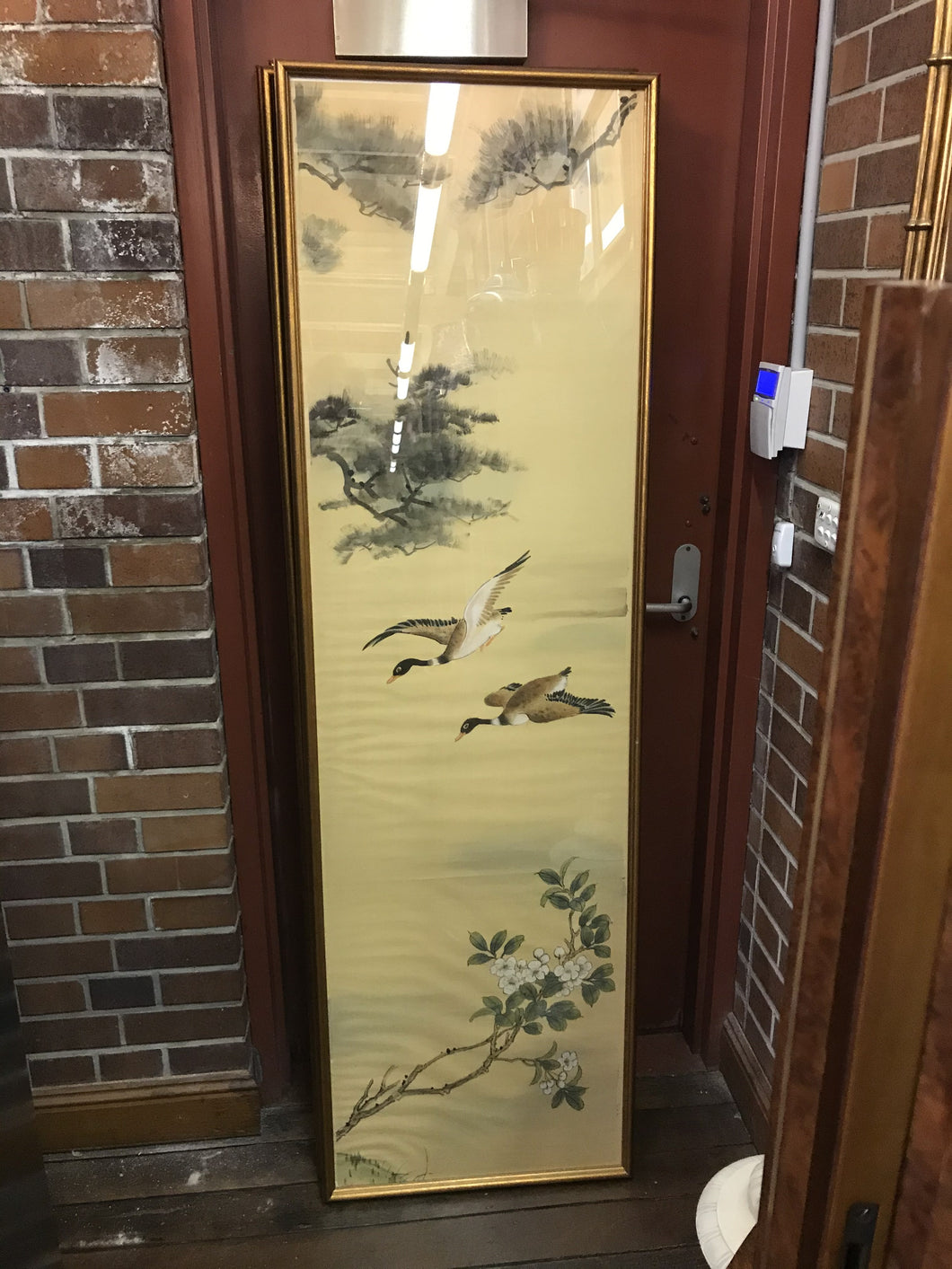 AA0130 Framed Suite of 4 Chinese Silk Nature Screens