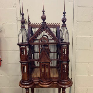 DC0069 Victorian Mahogany Bird Cage on Stand