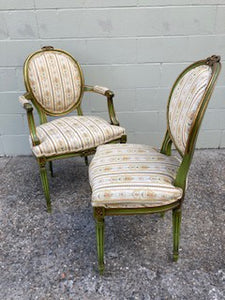 FS0050 Six (C.1920's) French Chairs in Louis XVI Style