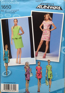 Simplicity 1650 R5 Sewing Pattern Ladies Dress