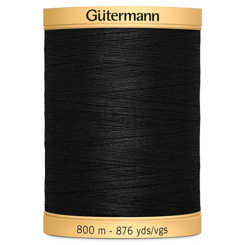 800m Gutermann 100% cotton thread