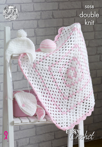 Beginners Easy Crochet Blanket Kit Choice of Colours