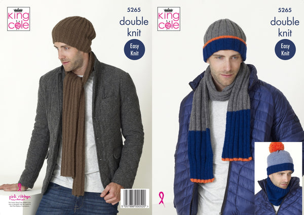 King Cole 5265 Mens Hats, Scarf and Snood