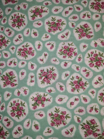 "60"" Cotton Poplin Tiny Rose Floral Fabric"