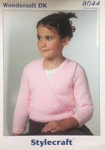 Stylecraft 8044 Wondersoft DK Knitting Pattern Girls Ballet Top
