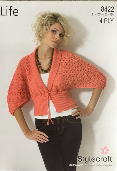 Stylecraft 8420 4ply Knitting Pattern Cardigan