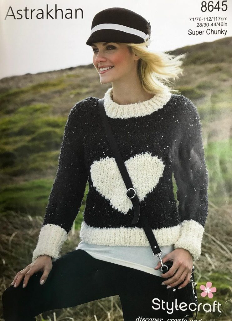 Stylecraft 8645 Jumper Super Chunky Knitting Pattern