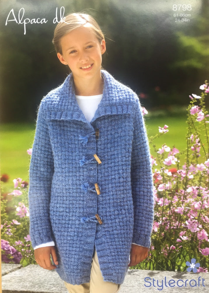 Stylecraft DK Knitting Pattern 8798 Jacket