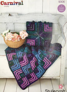 Stylecraft Crochet Pattern 9306 Chunky Throw Cushion
