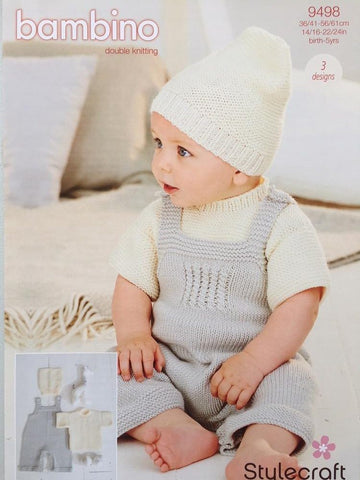 Stylecraft 9498 Dungarees, T-Shirt Knitting Pattern