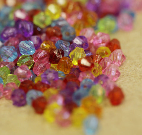 Acrylic Bicone Beads 4mm 500 Choice of Colours