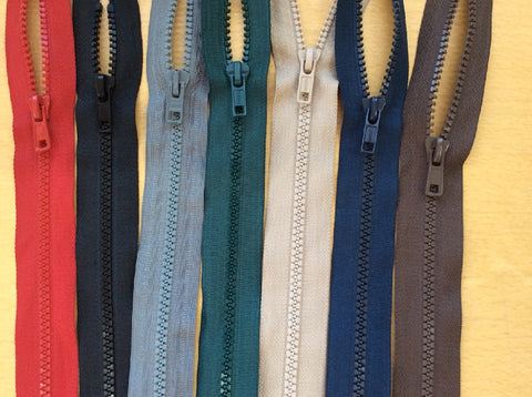 Chunky Open Ended Zip Various Colours Sizes