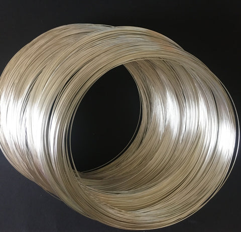 30 Silver Looped Memory Wire 11.5 cm
