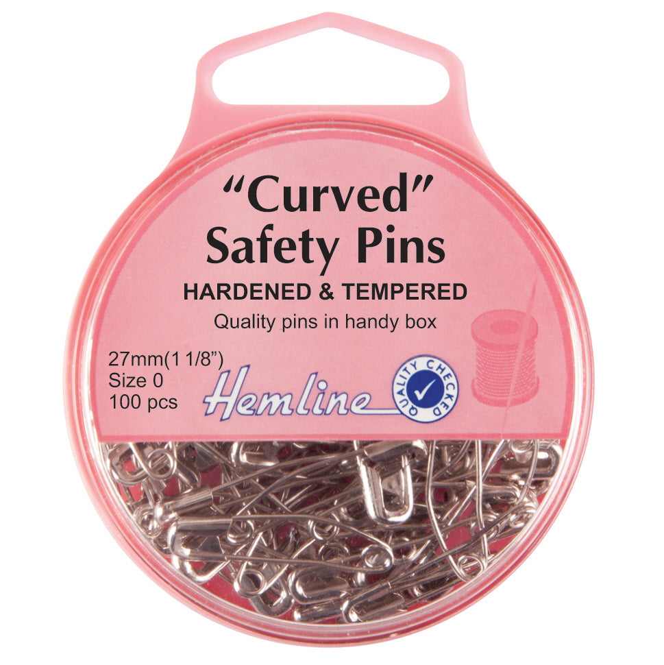 Hemline Curved Safety Pins 38 mm