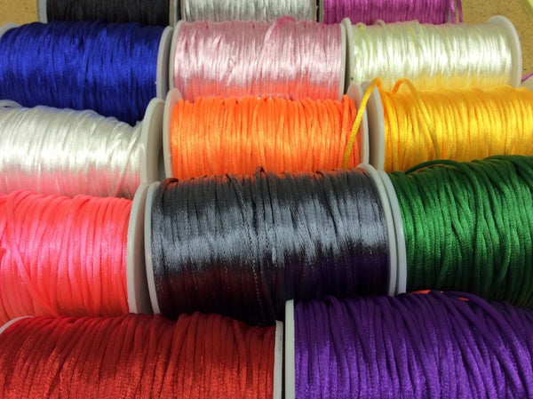 Satin Cord 2mm dia- 5 metres Assorted Colours