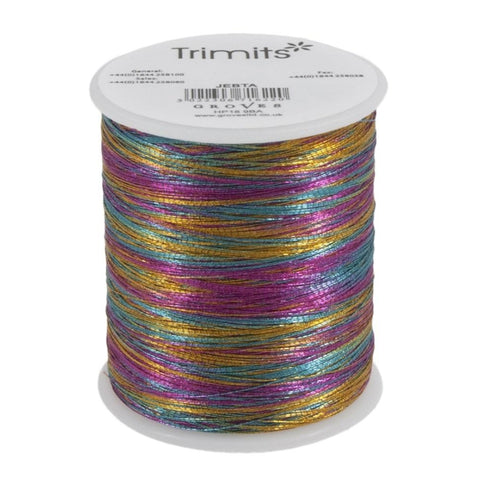 Trimits Embroidery Metallic Rainbow Thread