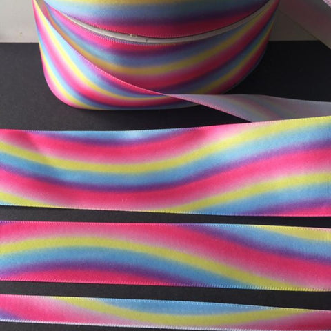 Pink Rainbow Unicorn Ribbon 10mm 25mm 40mm