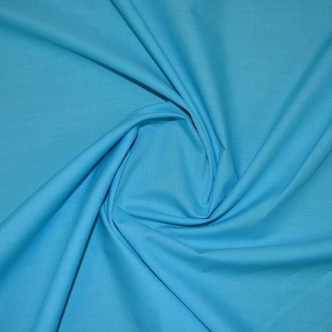 "44"" Wide Poly Cotton Plain Fabric turquoise"