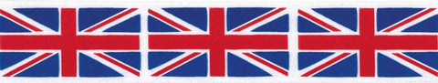 Berisfords Union Jack Ribbon 35 mm