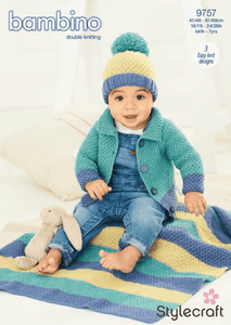 Stylecraft 9757 DK Cardigan Hat Knitting Pattern