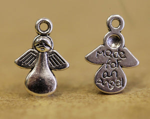 20 Made for an Angel Silver Plated Metal Charms