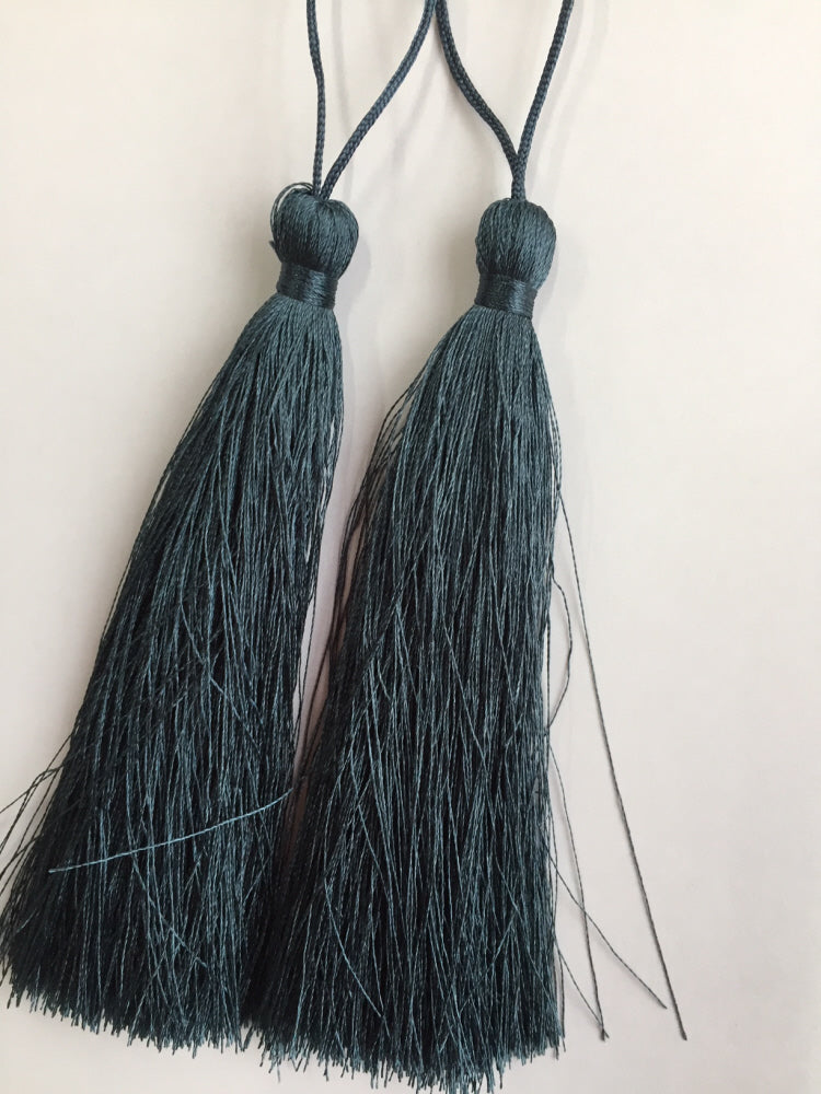 Luxury Silky Tassels 10 cm Assorted Colours Teal