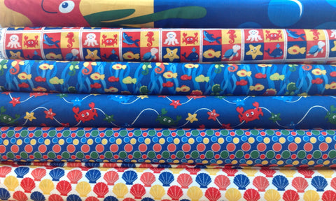 Fabric Freedom Under The Sea 100% Cotton Fabric FQ Quilting Craft