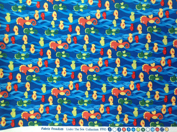 Fabric Freedom Under The Sea 100% Cotton Fabric Quilting Craft