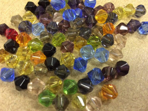 Bicone Glass Beads Mixed 100g