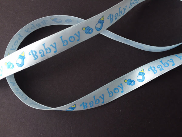 15 mm Satin Printed Baby Ribbon 3 metres
