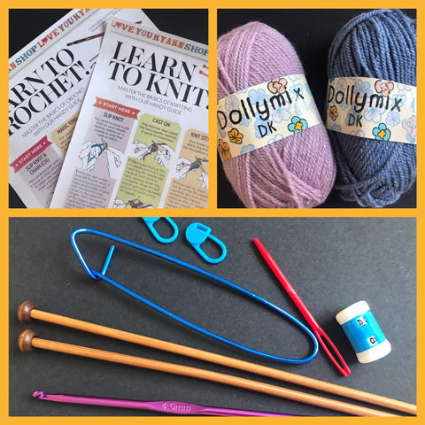 Beginners Learn to Crochet Knit Kit